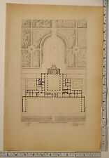 1815 PRINT TUSCAN ARCHITECTURE GENERAL PLAN OF PALACE PITTI IN FLORENCE CHAPEL