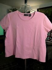 RELATIVITY PETITE   PL   WOMENS  TEE SHIRT/ BLOUSE   PINK    SUPERSOFT/ STRETCHY