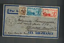 1938 Saigon Vietnam  Airmail Cover to Olomouc Czechoslovakia 2