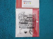 Mini clear stamp Artémio...Aime...( AP/0074 )
