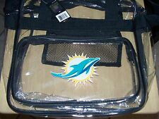 Miami Dolphins New Logo FINS Clear Messenger Bag Approved for 2013 Rule NWT