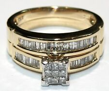 New 14k Yellow Gold Diamond Engagement Set Rings 1.05ct