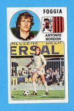 PANINI CALCIATORI 1976/77-Figurina n.80- ANTONIO BORDON - FOGGIA -Rec