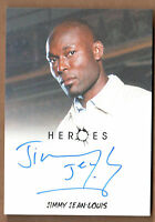 HEROES ARCHIVES (Rittenhouse/2010) AUTOGRAPH CARD by JIMMY JEAN-LOUIS V-Limited