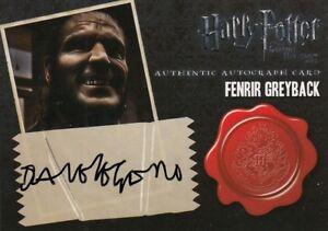 Artbox - Harry Potter Deathly Hallows, Dave Legend (Fenrir Greyback) Auto Card