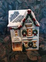 Vintage World Bazaars Inc.  Christmas House Cookie Jar