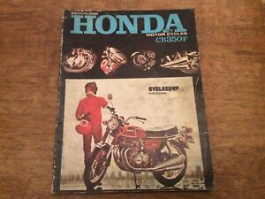 Rare! Servicing Honda Motor Cycles CB350F Cycleserv 1973