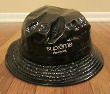 Supreme Shiny Nylon Crusher Bucket Hat Size M/L Black FW19 FW19H92 New 2019