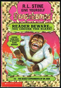 GY GOOSEBUMPS, THE DEADLY EXPERIMENTS OF DR.EEEK #4, VGC, UNREAD.