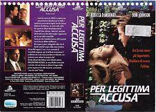 PER LEGITTIMA ACCUSA (1993) vhs ex noleggio