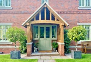 Oak porch, bespoke self assembly kit, MADE TO MEASURE to your requirements.