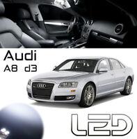 AUDI A8 D3 22 Ampoules LED blanc Plafonnier tapis portes Coffre pare soleil