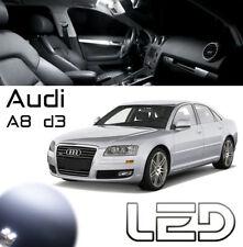 AUDI A8 D3 Kit 12 Ampoules LED blanc Plafonnier habitacle plancher lampe lecture
