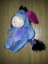 Doudou NICOTOY Bourriquet disney winnie billes bleu violet