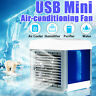 Portable Mini 3 Speed Air Conditioner Cooling Cooler USB Fan LED Night Deskpot