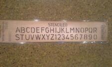 Sizzix sizzlits decorative strip - stenciled alphabet Tim Holtz alterations