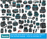 MAKITA BLUE BELT POUCH HOLDER BRACES FIXINGS TOTE BAG SET TOOL CASE PADS VEST