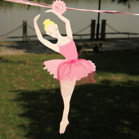 Kids Ballet Girl Banner Birthday Ballerina Paper Flags Party Decoration