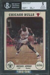 1985 Interlake Boy Scouts Chicago Bulls 5X7 Michael Jordan XRC #1 BGS 5 W/2X 10
