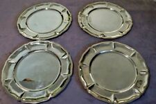"""Set of Four 11 1/2"""" Silverplate Plates/Trays -Made in Mexico-1940s-1960s Vintage"""
