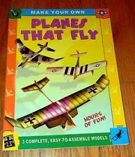 MAKE YOUR OWN (3) PLANES THAT FLY MODEL ~ PUNCH PRESS PUSH OUT ASSEMBLING BOOK