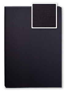 Bindekarton/Deckblatt/Rückblatt, LEINEN,  schwarz, 100 Stück