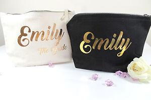 Personalised Make Up Wash Bag Wedding Bridal Gift Present