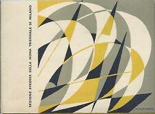 IX  Triennale di Milano - Sezione Svezia - Architettura Design Cartoline 1951