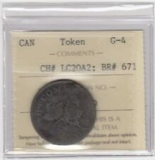 Lower Canada Br 671, CH LC20A2 Bouquet Sou Token - Good