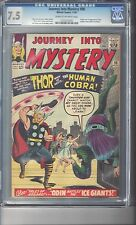 Journey Into Mystery #98 CGC 7.5 Kirby Art First Human Cobra Appearance