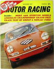 MOTOR RACING Magazine Nov 1967 - 1968 Sporting models, Group 6 Nomad-Ford