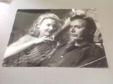 ELGA ANDERSEN et MAURICE BIRAUD - Photo de presse originale 18x24cm