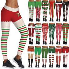 Christmas Women 3D Print Leggings Stretchy Casual Slim Skinny Sport Pencil Pants