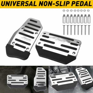 2pcs Automatic Transmission Car Brake Foot Pedals Cover Treadle Non-Slip Compatible with C-h-e-v-r-o-l-e-t C-r-u-z KSTE Car Automatic Pedals