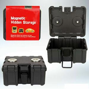 Magnetic Hidden Safe Stash Secret Storage Box Container For Car Van Truck-Medium