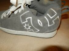 DC shoe co usa mens sneakers -sports wear shoes -suede leather - gray- sz.12