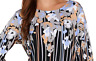 ❤️ BOB MACKIE Floral Print 3/4 Sleeve Liquid Knit Top-Blouse-Women's Sz.Medium