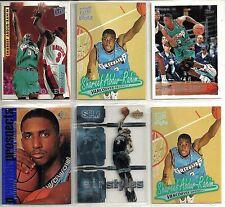 Shareef Abdur-Rahim 1996-97 Vancouver Grizzlies 6-card Rookie Basketball Lot