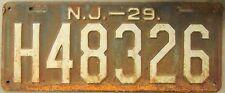 1929 NEW JERSEY LICENSE PLATE # H48326