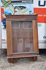 American Victorian Oak Showcase / Display Case / Gun Cabinet / Poster Case