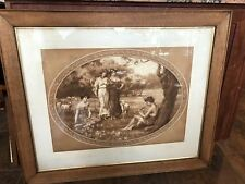 """William Hounsom Byles """"A Pastoral"""" Print Large Framed and Matted"""