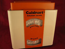 Funky Cuisinart Kitchen Scale 1970s Mod Orange & White Vintage M.I. France RARE