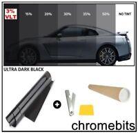 Auto Auto Heim Tönung Tönungsfolie Fenster Ultra Limousine Schwarz 3% 3M X 50cm