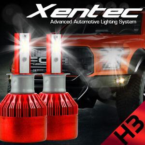H3 388W 38800LM Car Fanless LED Headlight Bulbs Conversion CREE Kit 6000K White