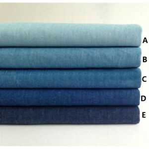 Classic Blue Synthesis Denim Fabric Soft for Dress Jeans Trousers Shirt Craft