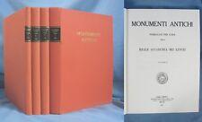 """4 Volumes de """"MONUMENTI ANTICHI"""" / Réédition de 1980-1981"""