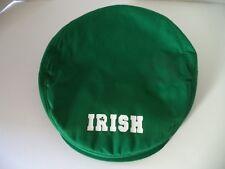 Irish green flat cap hat cotton golf lightweight shamrock Ireland ivy adjustable