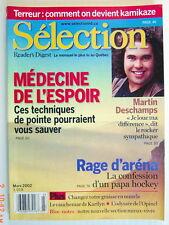 SÉLECTION DU READER'S DIGEST DE MARS 2002, EN COUVERTURE: MARTIN DESCHAMPS