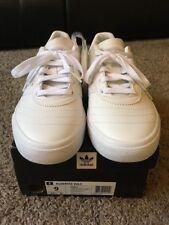 Adidas Busenitz Vulc Flat White Shoe - Pro Skateboard Size 9 Mens