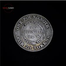 More details for cheshire nantwich silver shilling token, 1811, dalton 1
